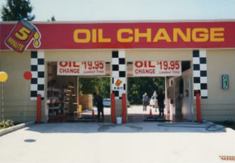 Oil change bays in 2005