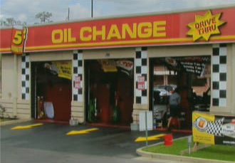 Oil change bays in 2011