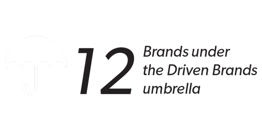 12 Brands under the Driven Brands umbrella