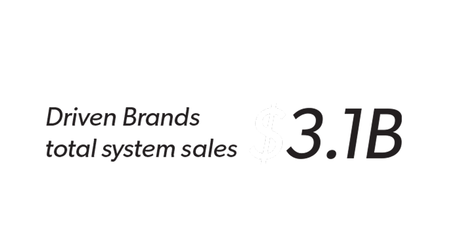 $3.1B Driven Brands total system sales