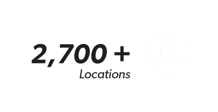 2,700+ Locations